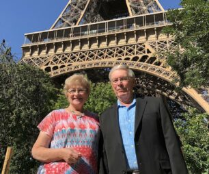 Faye and Richard going for dinner at top of the Eiffel Tower 1280