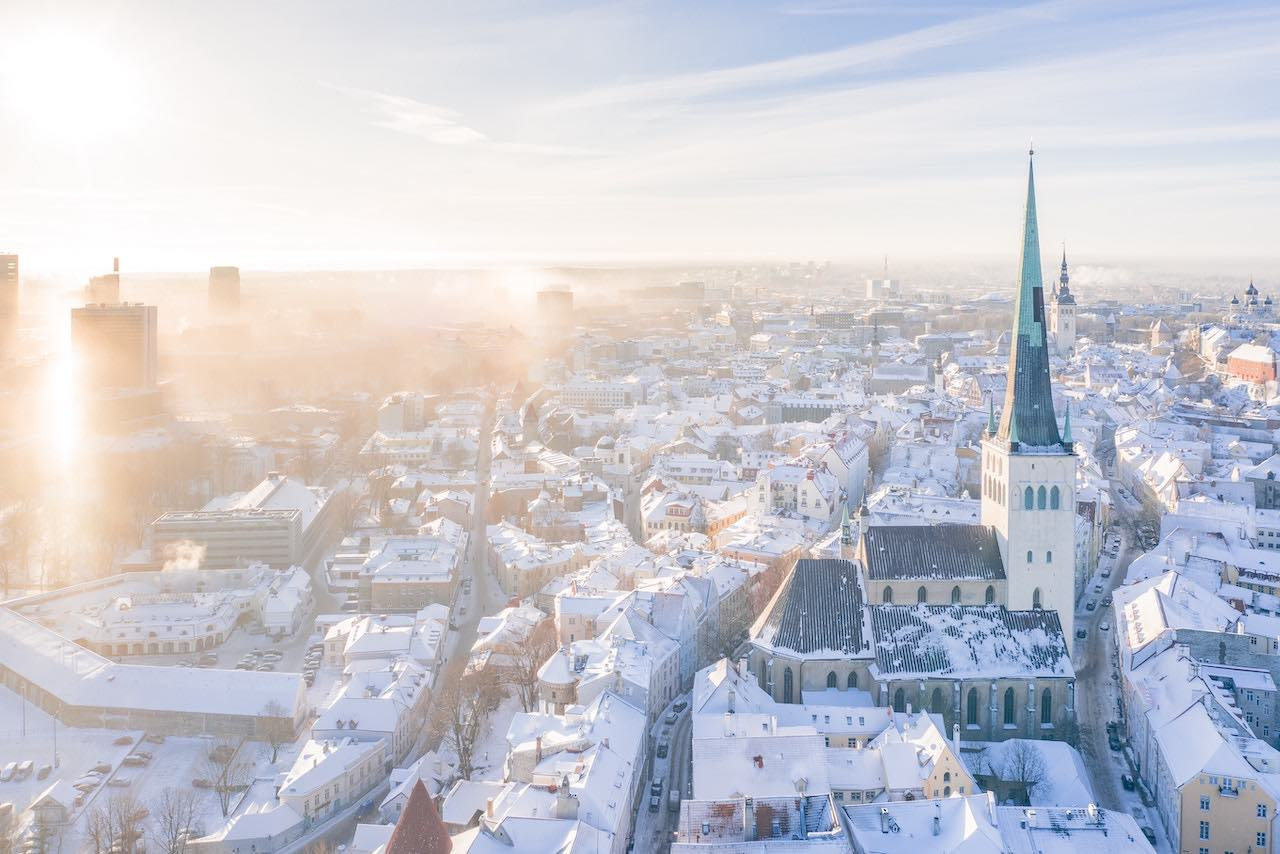 Tallinn city at Christmas