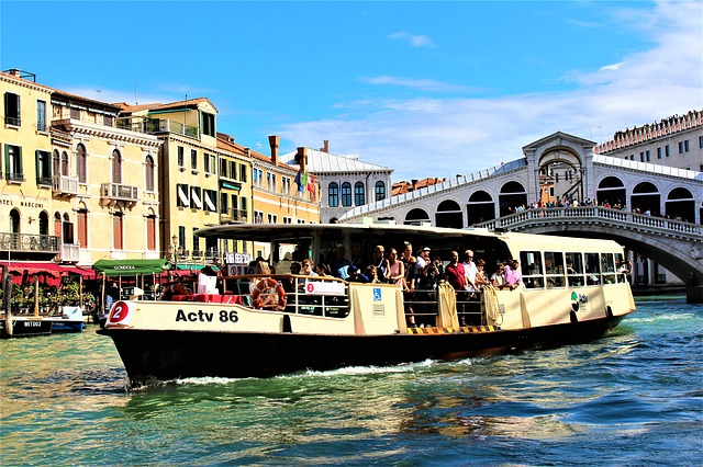 Vaporetto on the Grand Canal of Venice